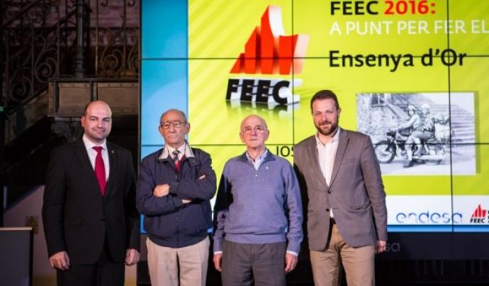 Entrega de l'Enseya d'Or a Jordi Pons. Imatge de la FEEC.  Font: FEEC