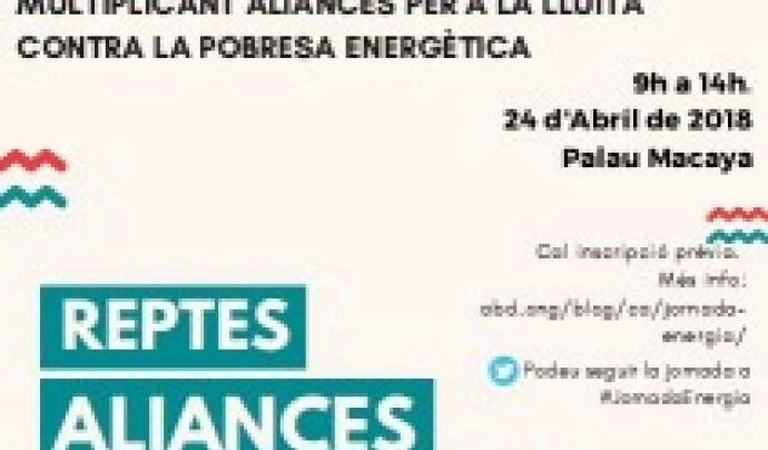 Cartell de la Jornada sobre pobresa energètica del 24 d'abril