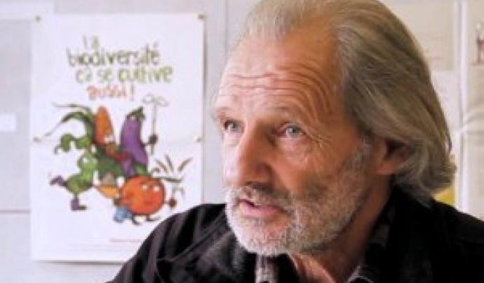 El pagès i activista occità Guy Kastler  Font: Semences paysannes.org