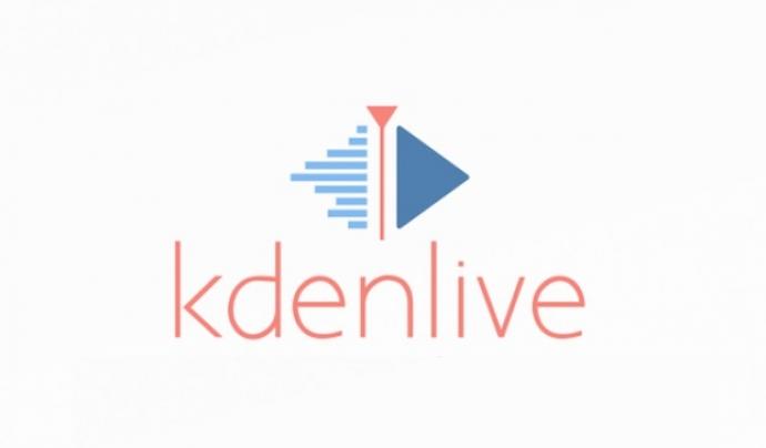 Logotip de Kdenlive, eina edició vídeo.  Font: Kdenlive