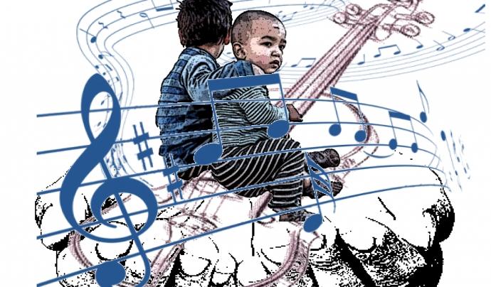 La 'Caravana Musical per la Pau' vol omplir de música els camps de refugiats al Líban. Font: ATAP Calders