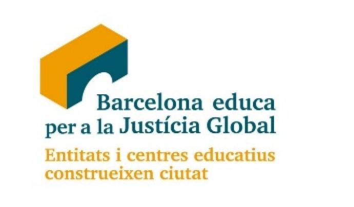 Logo de Barcelona Educa per a la Justícia Global.