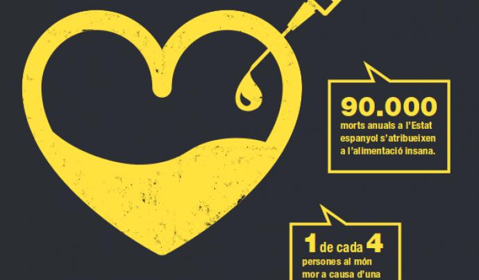 Cartell de la campanya Enverina'm Font: VSFJustícia Alimentària Global