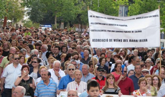 Manifestació de l'AV del barri de la Riera