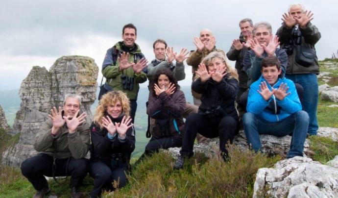 Les fotografies de mans en forma de papallona inunden les xarxes socials pel dia dedicat a la Xarxa Natura 2000. Font: Seo BirdLife