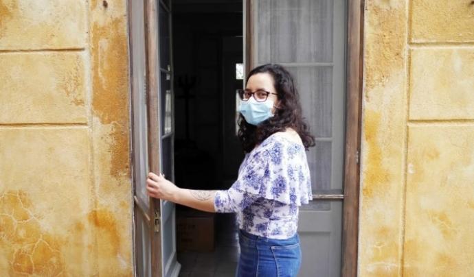 La Maria Eugenia, una de les primeres dones ateses que ha entrat a la Llar Impuls. Font: Centre Assís