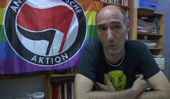 Eugeni Rodríguez, president de l'Observatori contra l'Homofòbia. Font: Youtube