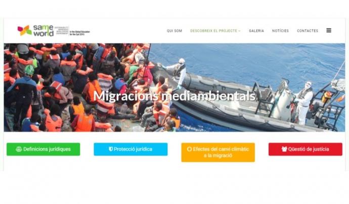 Les13 ong que col·laboren al projecte Same World donen visibilitat al fenómen de la migració climàtic Font: Same World