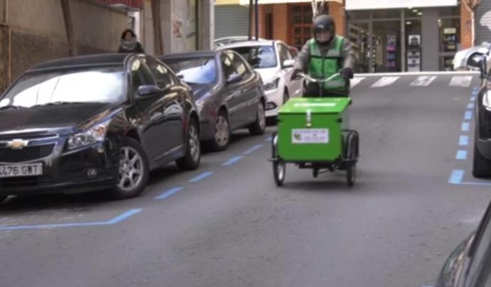 Neix la primera missatgeria ecològica a Lleida Font: Missatgers amb cor