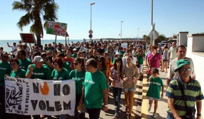 Mobilitzacions contra la plataforma Castor a Alcanar Font: Diari la veu