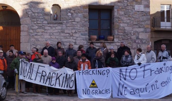 Riudaurajunts contra el fracking Font: Riudaurajunts contra el fracking