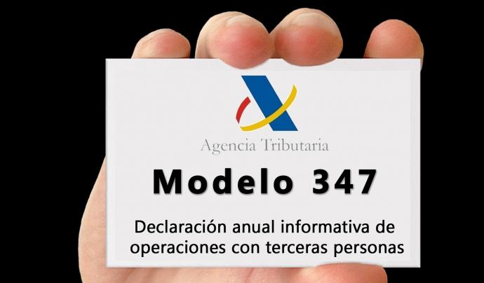 El Model 347 pot presentar-se fins al 28 de febrer. Font: Agència Tributària