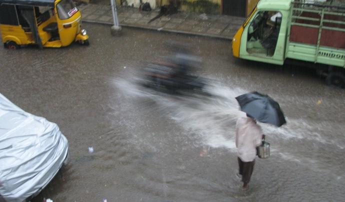 El monsó és una variació en el sistema de vents que provoca fortes pluges. Font: Wikimedia