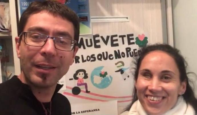Marcos Bajo i Minerva González, dos dels impulsors d'aquesta iniciativa. Font: Muévete por los que no pueden