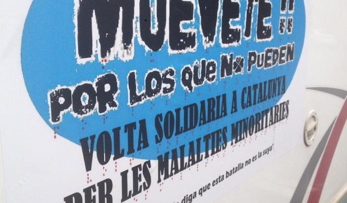 L'any 2015, l'entitat va impulsar la Volta Solidària a Catalunya per les Malalties Rares Font: Muévete por los que no pueden