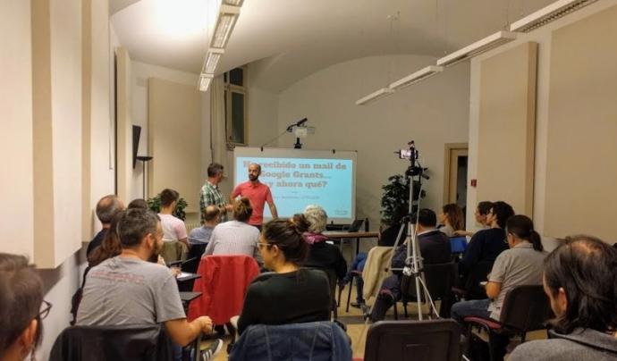Els esdeveniments de Tecnologia Solidària actualment es fan en línia.  Fotografia de Tecnologia Solidària.  Font: Tecnologia Solidària.