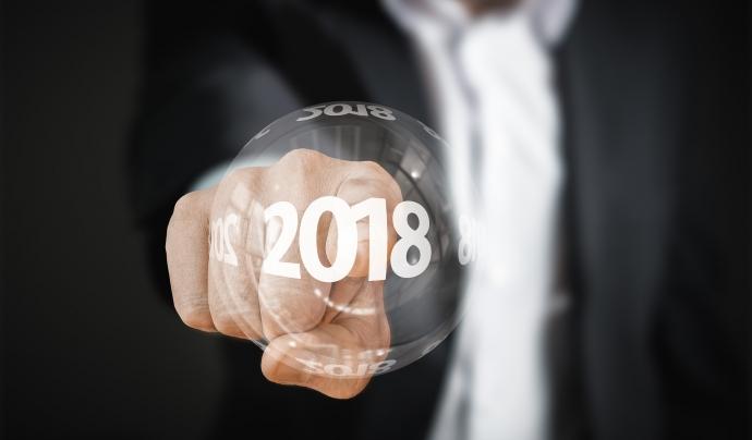 Mà indicant l'inici de l'any 2018 Font: Pixabay