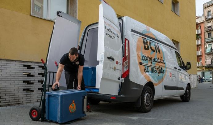 Des del 2012, Nutrició sense fronteres impulsa el projecte 'BCN comparteix el menjar' que permet recuperar excedents de restaurants, escoles i hotels. Font: Nutrició sense Fronteres