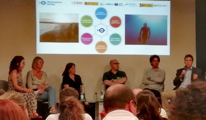 Membres de la comunitat Observadors del mar, persones voluntàries, científiques o entitats,  van explicar la seva participació en el projecte. Font: @formenteril on Twitter