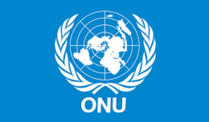 Logo de l'ONU. Font: CM Global