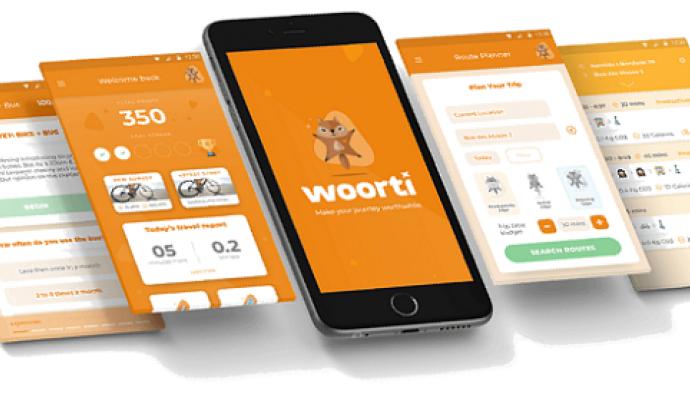 Persones i entitats interessades en la mobilitat poden oferir-se com a voluntàries aportant dades a l'estudi a través de l'aplicació Woorty. Font: Motiv Project