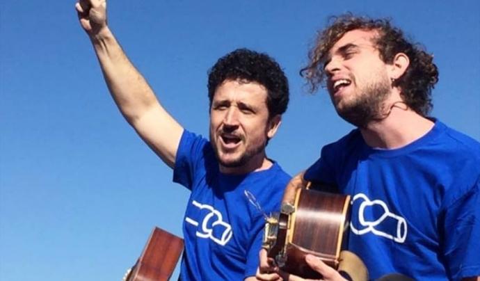La cançó 'La força de l'Ebre' vol ser un nou himne per la Plataforma Font: Pepet i Marieta