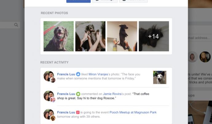 Perfils personals dins d'un grup de Facebook. Font: Facebook