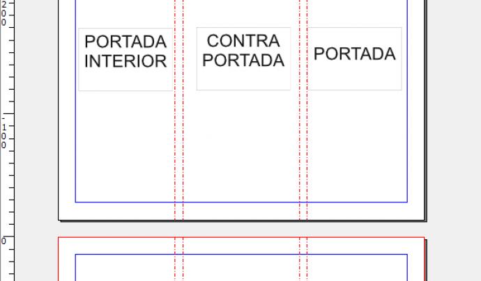 Captura pantalla plantilla triptic scribus Font: Scribus