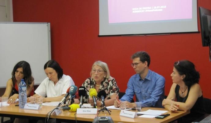 Presentació de l'informe en roda de premsa. Font: ECAS