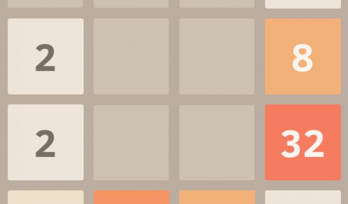 Captura de pantalla del joc 2048