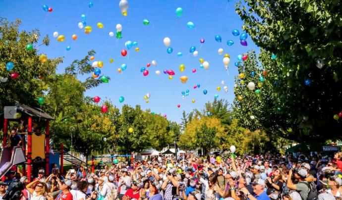 Enlairament de globus a la primera edició. Font: Posa't La Gorra