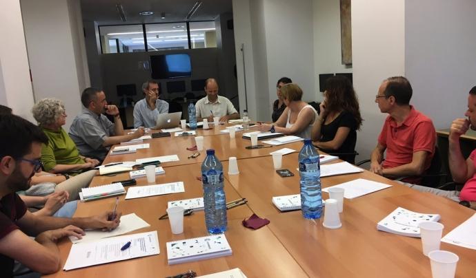 Trobada d'entitats participants en Programa Pilot d'Acompanyament a la Governança Democràtica organitzada l'any 2017. Font: La Confederació