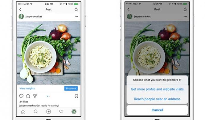 Imatge sobre com promocionar una publicació múltiple a Instagram.  Font: Instagram