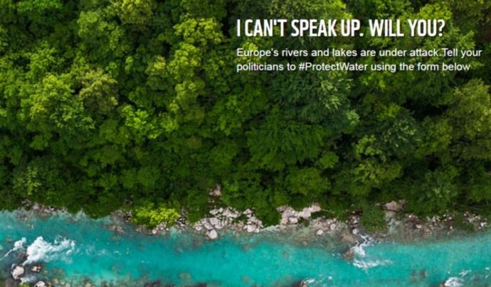 La campanya #protectwater fa una crida a la ciutadania a defensar la directiva de l'aigua en el procés participatiu obert. Font: wwf.eu
