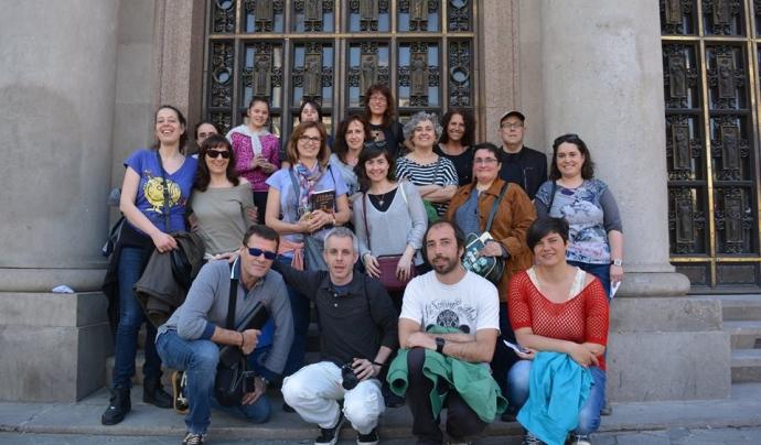 Membres de 'Caçadors d'Hermes' en una de les seves trobades per Barcelona.