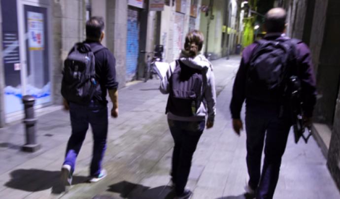 Recompte nocturn de persones dormint als carrers de Badalona