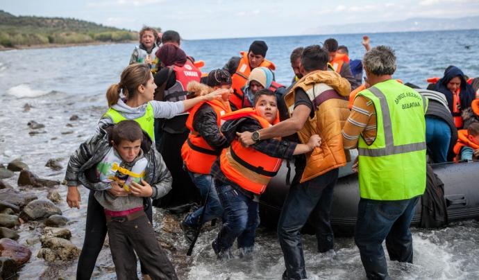 Rescat de persones refugiades al Mediterrani.