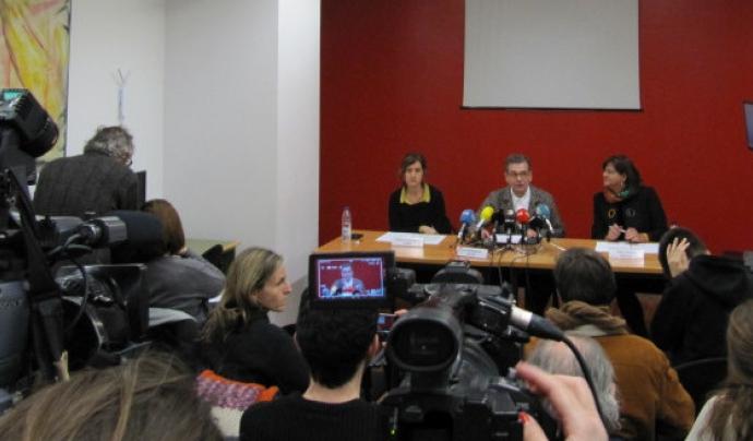 Roda de Premsa de l'aliança entre ECAS, FEDAIA i FEPA. Font: FEPA