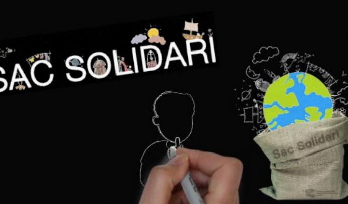 Imatge gràfica del vídeo promocional del Sac Solidari. Font: Vimeo