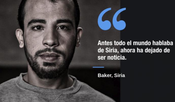 Baker és una de les persones que explica la seva història a Siria App.