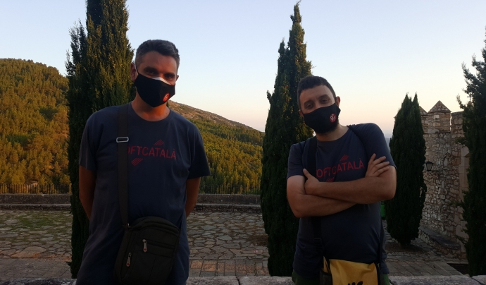 Toni Hermoso i Joan Montané són dos membres actius de SoftCatalà. Imatge de Toni Hermoso.  Font: Toni Hermoso Pulido. Llicència d'ús CC BY-SA 2.0