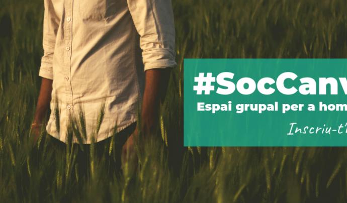 Grafisme del nou Espai Grupal d'Homes #SocCanvi Font: Fundació IReS