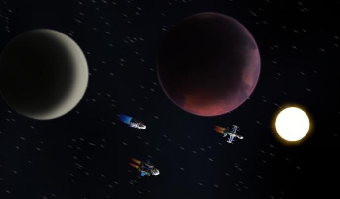 Endless Sky és un videojoc que consisteix en un simulador espacial. Imatge d'Endless Sky.  Font: Endless sky