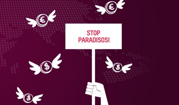 Stop Paradisos, imatge reivindicativa de la campanya.