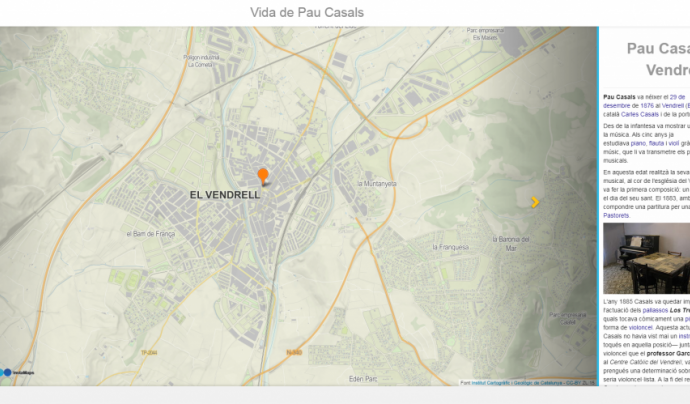 Storymap és una eina per crear mapes amb dades multimèdia Font: Storymap