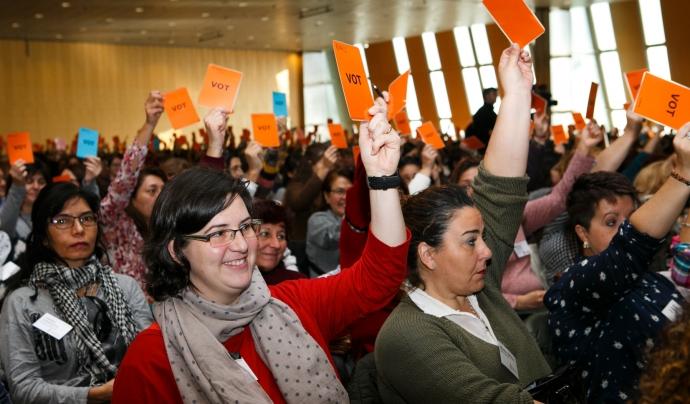 Les assemblees presencials de Suara eren molt concorregudes. Imatge de la Cooperativa Suara.  Font: Cooperativa Suara