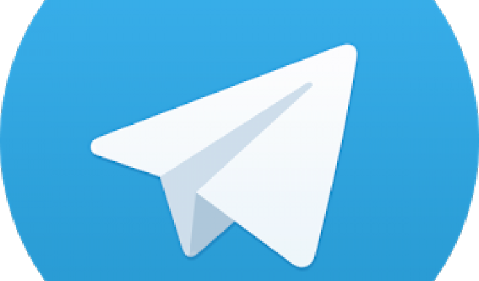 Icona de l'aplicació Telegram Font: Telegram