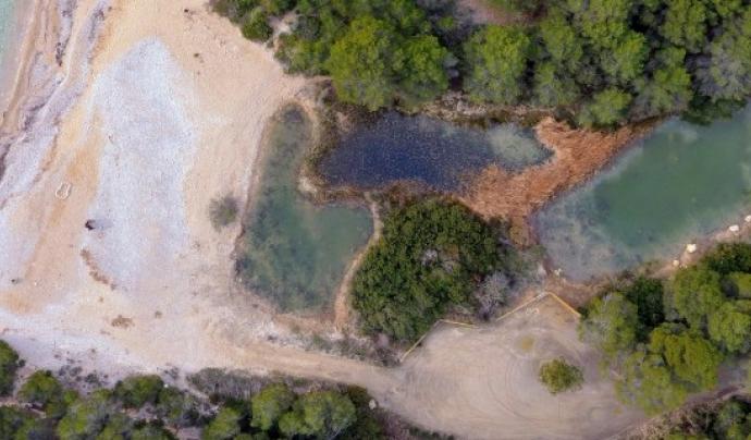 Imatge aèria de la llacuna de Torrent del Pi, espai en custòdia de l'associació Paisatges Vius, amb la col·laboració de Graëllsia Font: Paisatges Vius
