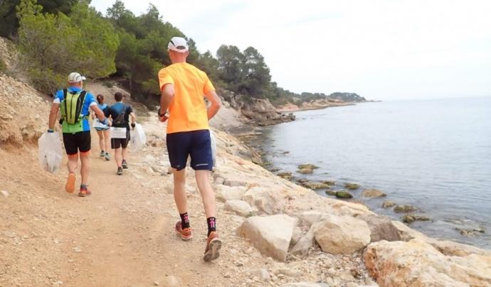 La sisena marató va finalizar a l'Ametlla de Mar, a on van arribar des de Deltebre Font: Ultra Clean Marathón