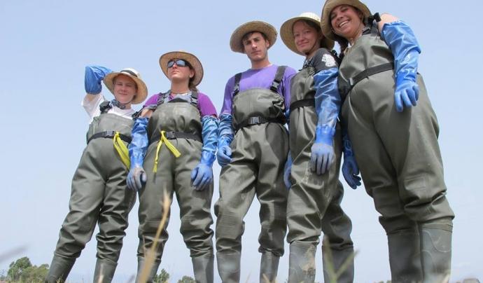Voluntaris i voluntàries ambientals a Riet Vell